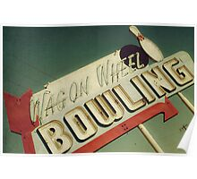 Wagon Wheel Bowling Poster