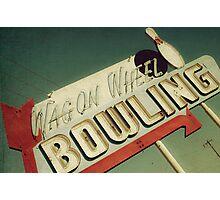 Wagon Wheel Bowling Photographic Print