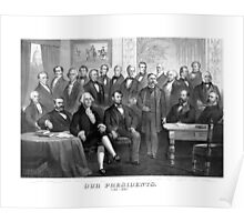 Our Presidents 1789 - 1881 -- US History Poster