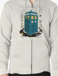 Time Traveling Lessons Zipped Hoodie