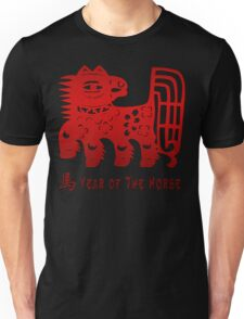 Chinese New Year Of The Horse Papercut Unisex T-Shirt