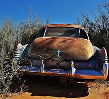 Rusted earth and blue, blue skies by Karen01