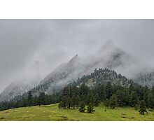 The Wild and Wet Flatirons Photographic Print