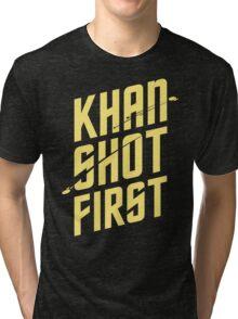Khan Shot First Tri-blend T-Shirt