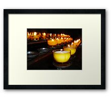 Church Candles Framed Print