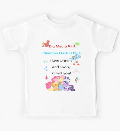 For the love of Ponies Kids Tee