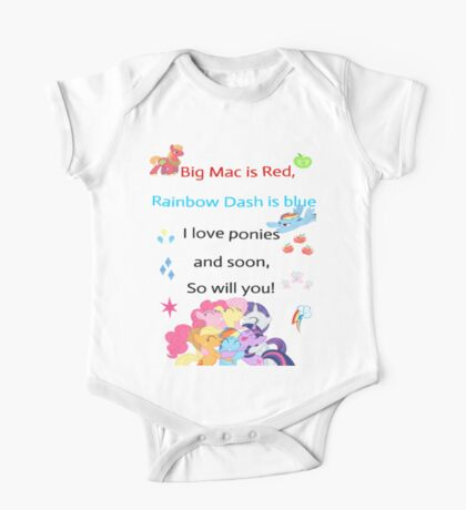 For the love of Ponies One Piece - Short Sleeve