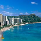 Diamond Head and Waikiki Beach by printscapes