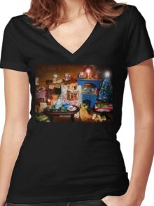 Story Time Women's Fitted V-Neck T-Shirt