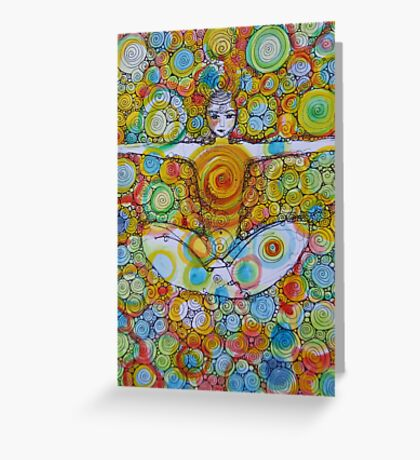Earth Boy Angel Greeting Card