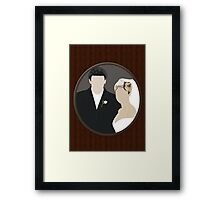Buffy + Angel = Bangel Framed Print