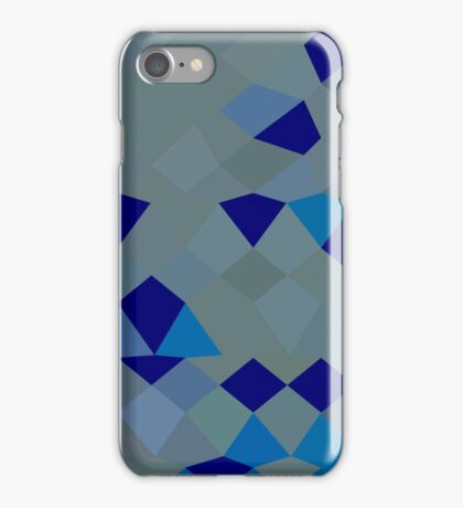 Blue Pigment Abstract Low Polygon Background iPhone Case/Skin
