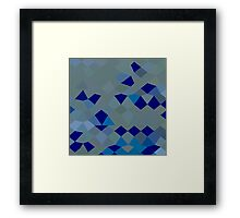 Blue Pigment Abstract Low Polygon Background Framed Print