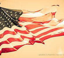 American Flag by Karen Denise Porter