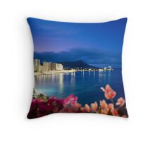 Waikiki Beach at Night, Hawaii Throw Pillow