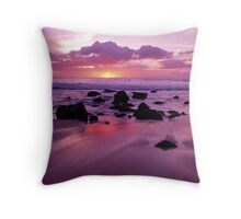 Sunset from Molokai Shoreline Throw Pillow