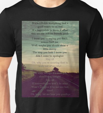 """One Direction  - """"Love You Goodbye"""" Unisex T-Shirt"""