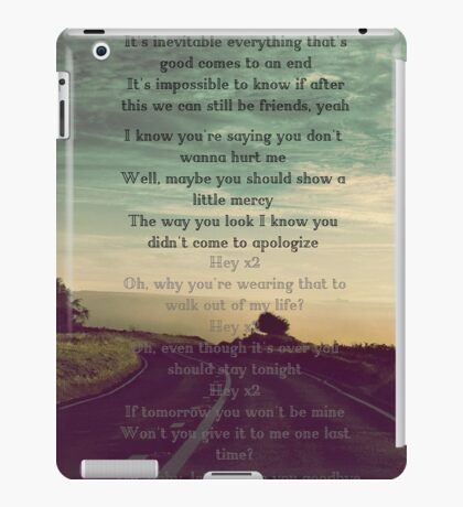"One Direction  - ""Love You Goodbye"" iPad Case/Skin"