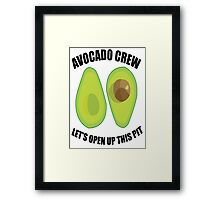 Avocado Crew Framed Print