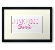 Junk Food Barbie Framed Print