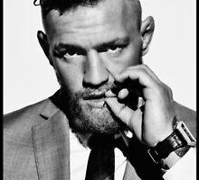 Conor McGregor b/w by sinkko