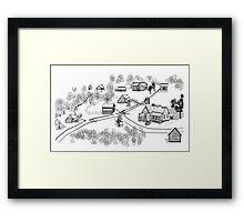 Old Community Framed Print