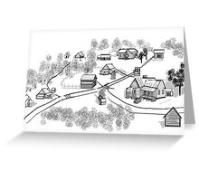 Old Community Greeting Card