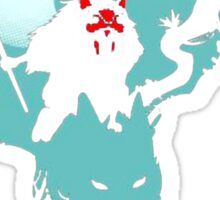 mononoke hime shirt anime mononoke Sticker