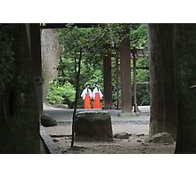 Stroll amid the temples Photographic Print