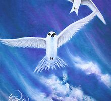 Flying High Fairy Terns by Emi Nakamura