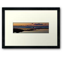 Surfing At Sunset Framed Print