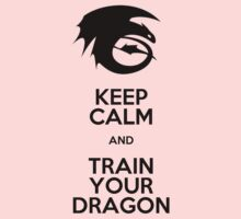 Keep calm and train your dragon Kids Tee