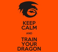 Keep calm and train your dragon Kids Tee