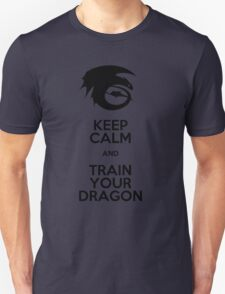 Keep calm and train your dragon Unisex T-Shirt
