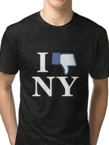 I Unlike NY - I Love NY - New York Tri-blend T-Shirt