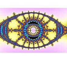 Rococo Blue Yellow Photographic Print