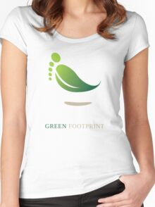 Green FootPrint Women's Fitted Scoop T-Shirt