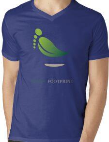 Green FootPrint Mens V-Neck T-Shirt