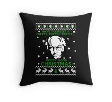 LARRY DAVID PRETTY GOOD CHRISTMAS UGLY SWEATER Throw Pillow