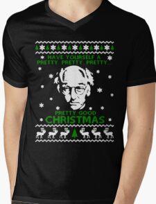 LARRY DAVID PRETTY GOOD CHRISTMAS UGLY SWEATER Mens V-Neck T-Shirt