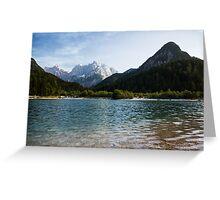 Lake Jasna in Kranjska Gora Greeting Card