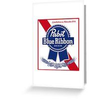 Pabst Blue Ribbon Greeting Card