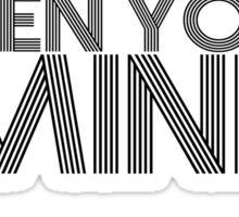 Open Your Mind (Black) Sticker