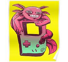 Axolotl Game Boy Poster