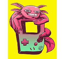 Axolotl Game Boy Photographic Print