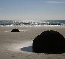 New Zealand's Moeraki Boulders by DRWilliams
