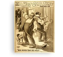 Vintage poster - A Hot Old Time Canvas Print