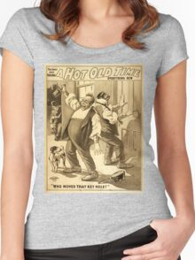 Vintage poster - A Hot Old Time Women's Fitted Scoop T-Shirt