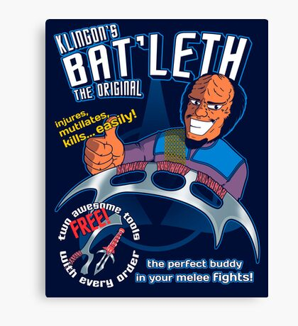 Bat'leth (the original) Canvas Print