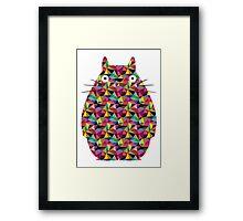 Mosaic Totoro Framed Print